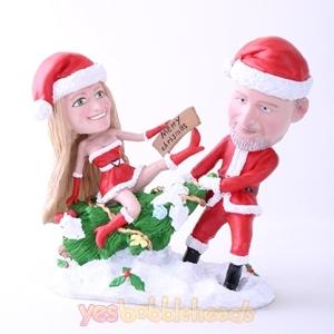 Picture of Custom Bobblehead Doll: Santa Couple Merry Christmas