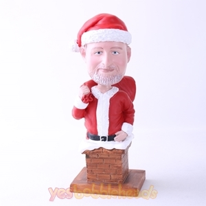Picture of Custom Bobblehead Doll: Santa At Chimney