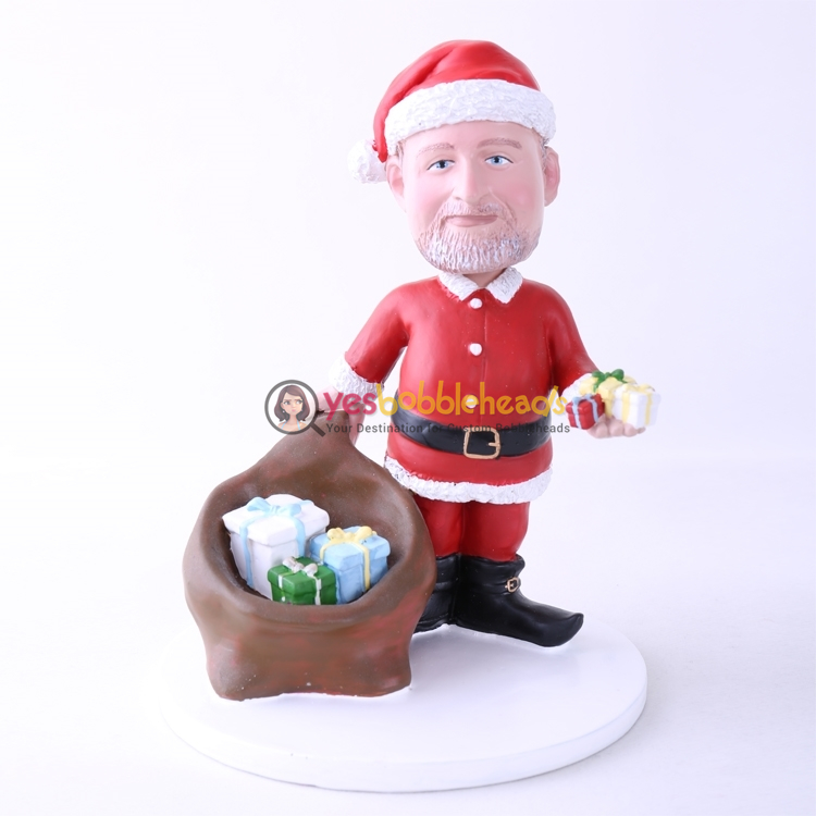 Picture of Custom Bobblehead Doll: Santa With Gifts