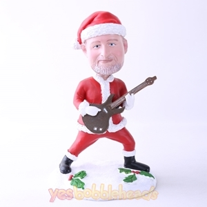 Picture of Custom Bobblehead Doll: Santa Playing Guitar