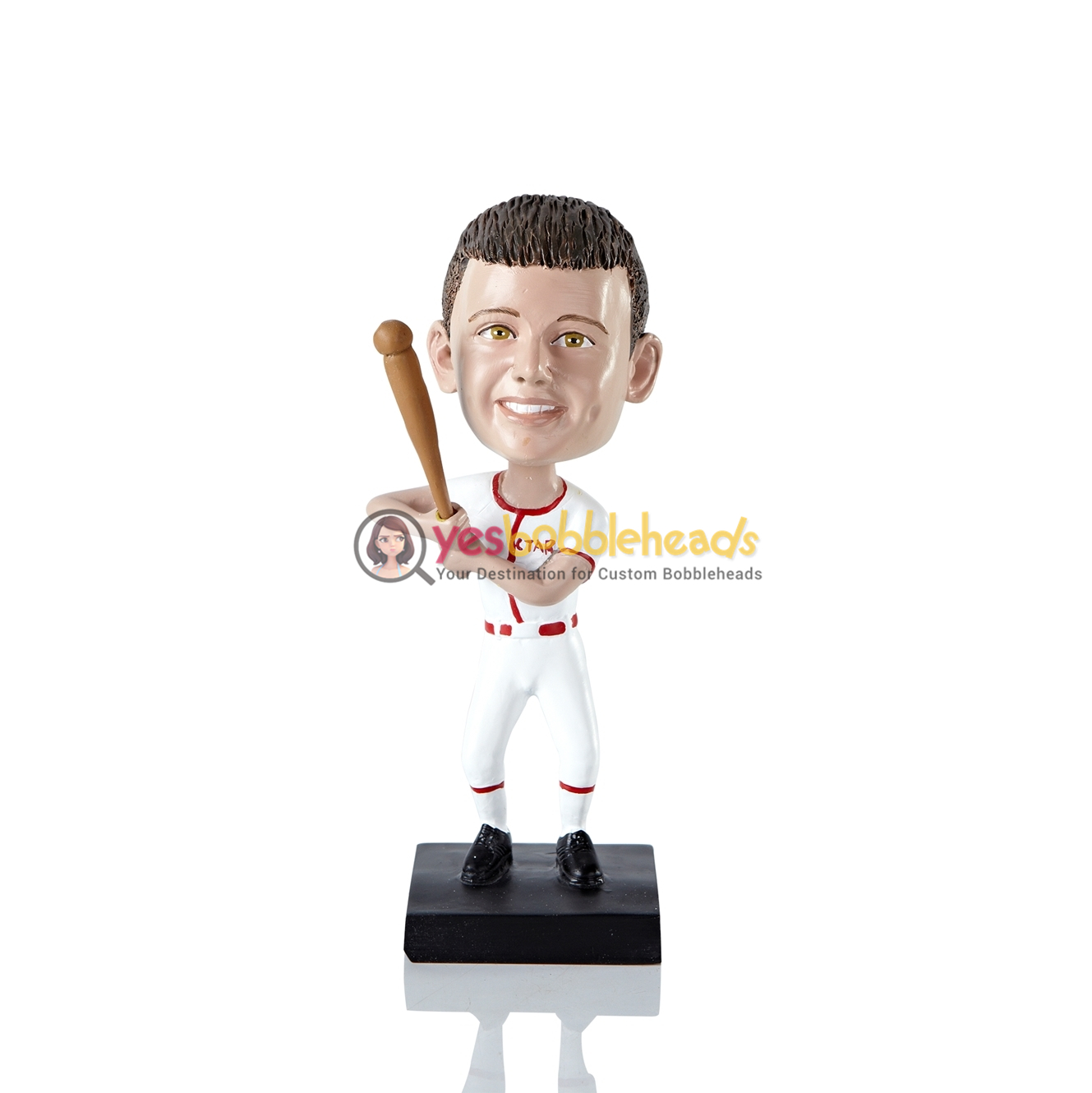 Picture of Custom Bobblehead Doll: Boy Baseball Player
