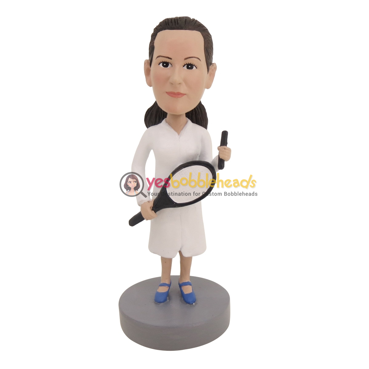 Picture of Custom Bobblehead Doll: Female Tennis Player