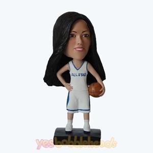 Picture of Custom Bobblehead Doll: Female Basketball Player