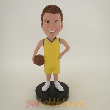 Picture of Custom Bobblehead Doll: Basketball Player Standing Up Happily