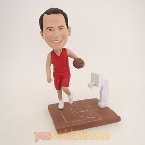 Picture of Custom Bobblehead Doll: Basketball Player in Game