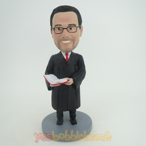 Picture of Custom Bobblehead Doll: Male Professor Reading a Book
