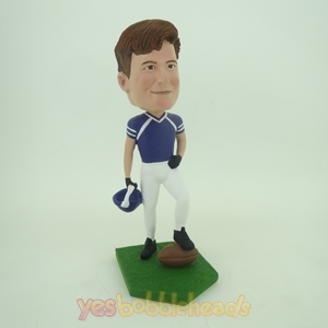 Picture of Custom Bobblehead Doll: Football Player Ready to Kick