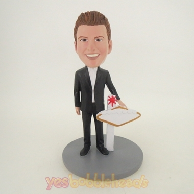 Picture of Custom Bobblehead Doll: Man on Rostrum