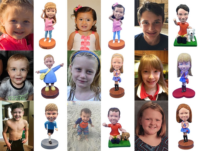 Children Custom Bobbleheads Gallery