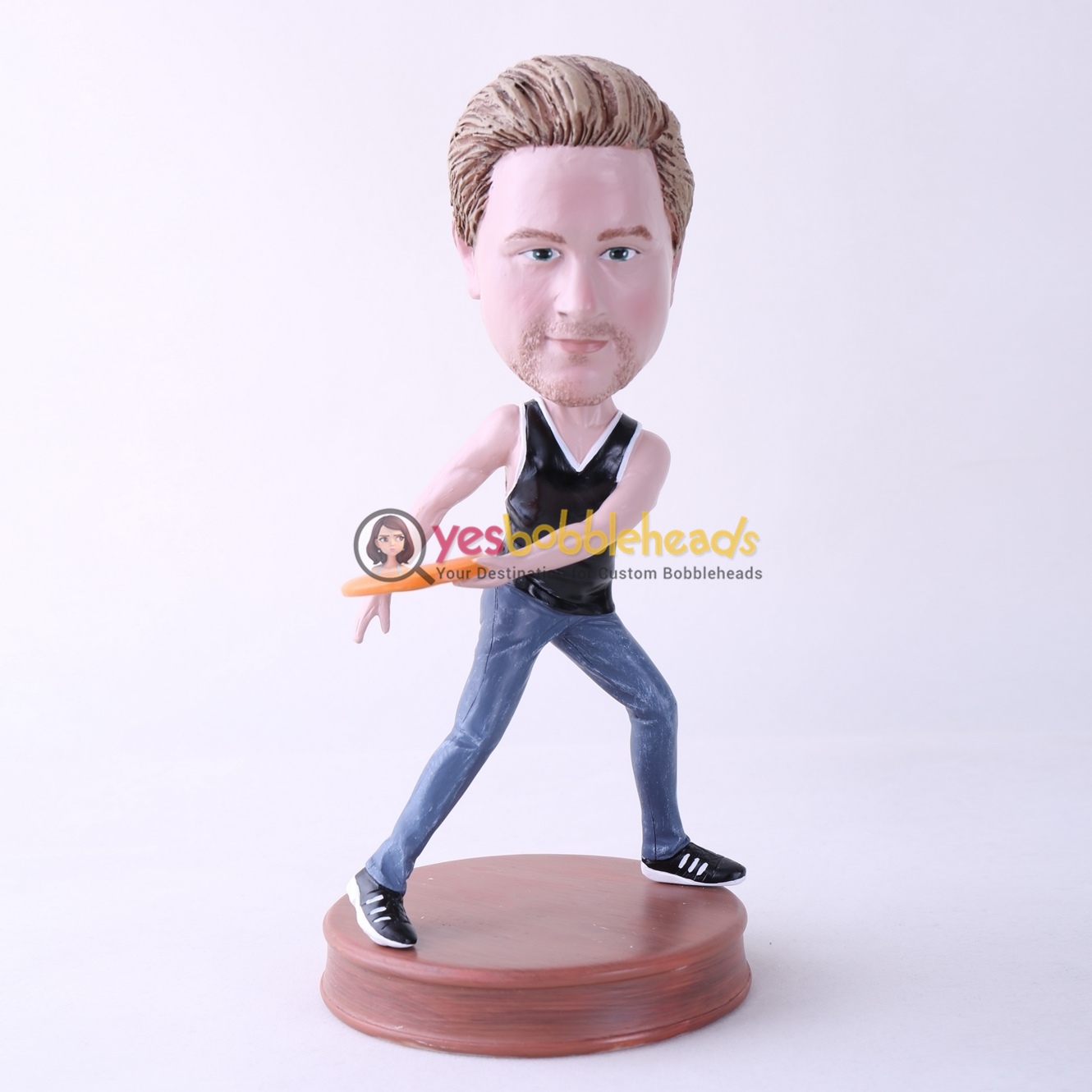 Picture of Custom Bobblehead Doll: Frisbee Player