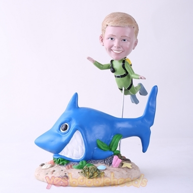 Picture of Custom Bobblehead Doll: Scuba Diving Kid