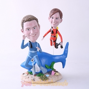 Picture of Custom Bobblehead Doll: Scuba Diving Couple