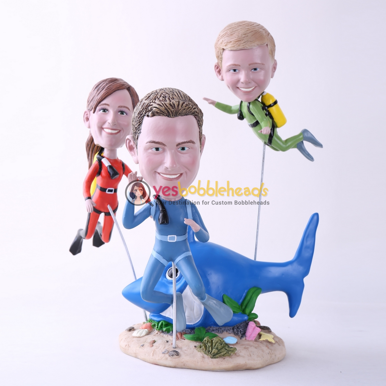 Picture of Custom Bobblehead Doll: Scuba Diving Family