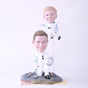 Picture of Custom Bobblehead Doll: Astronaut Father & Son