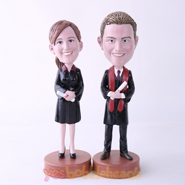 Picture of Custom Bobblehead Doll: Couple Graduate