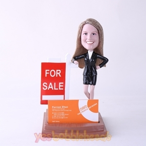 Picture of Custom Bobblehead Doll: Female Property Agent