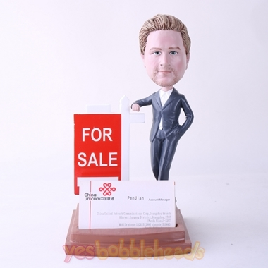 Picture of Custom Bobblehead Doll: Male Property Agent