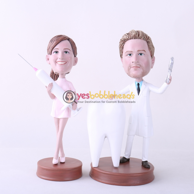 Picture of Custom Bobblehead Doll: Male Dentist & Nurse