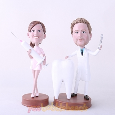 Picture of Custom Bobblehead Doll: Male Dentist & Nurse