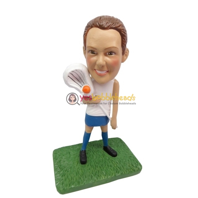 Picture of Custom Bobblehead Doll: Female Lacrosse Player