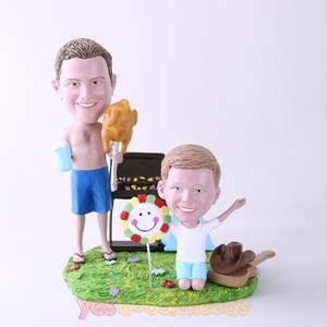 Picture of Custom Bobblehead Doll: BBQ Theme Father & Son