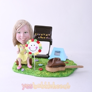 Picture of Custom Bobblehead Doll: BBQ Theme Girl