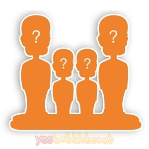 Picture of Custom Bobblehead Doll: Family of 4 Fully Customized Bobblehead
