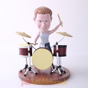 Picture of Custom Bobblehead Doll: Man Playing Drums