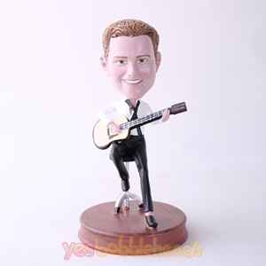 Picture of Custom Bobblehead Doll: Man Playing Guitar On Chair
