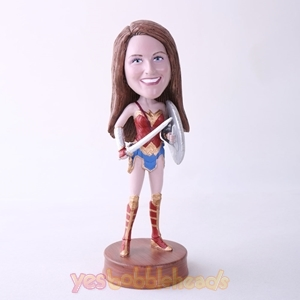 Picture of Custom Bobblehead Doll: Wonder Woman With A Sword