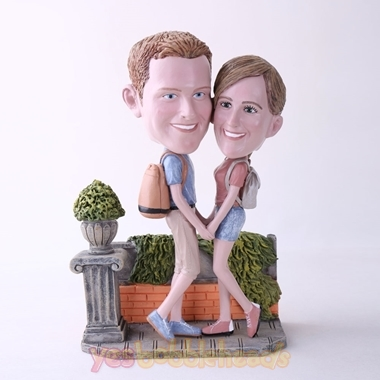 Picture of Custom Bobblehead Doll: Couple Hands In Hands On The Road