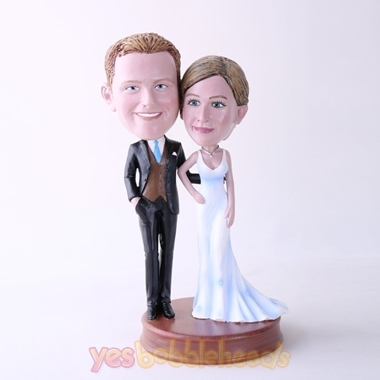 Picture of Custom Bobblehead Doll: Couple Ready For Party