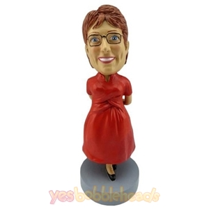 Picture of Custom Bobblehead Doll: Casual Plus Size Woman