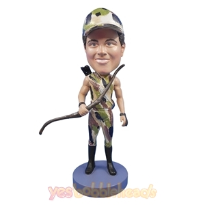 Picture of Custom Bobblehead Doll: Male Bow and Arrow Hunter