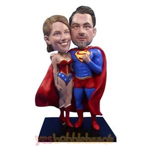 Picture of Custom Bobblehead Doll: Man & Woman in Super Style Outfit