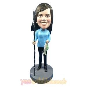 Picture of Custom Bobblehead Doll: Fishing Woman
