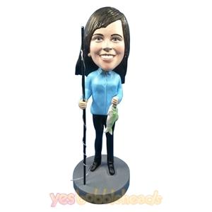 Picture of Custom Bobblehead Doll: Fishing Woman