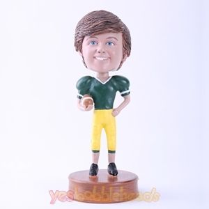 Picture of Custom Bobblehead Doll: Happy Football Player