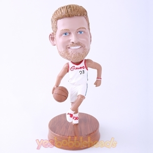 Picture of Custom Bobblehead Doll: Man Playing Basketball
