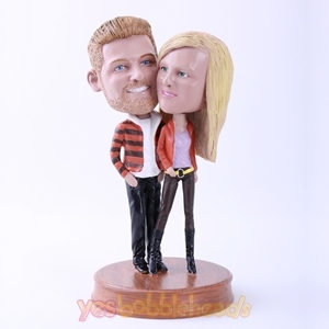 Picture of Custom Bobblehead Doll: Fasion Lover Couple
