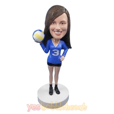 Picture of Custom Bobblehead Doll: Female Volleyball Player