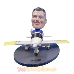 Picture of Custom Bobblehead Doll: Pilot Driving Single Engine Propeller Plane