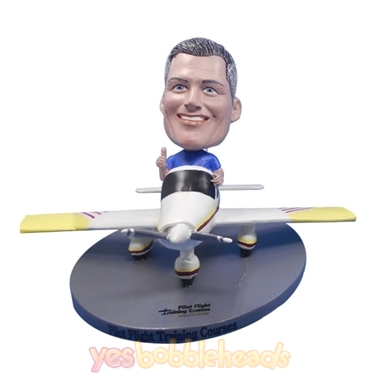 Picture of Custom Bobblehead Doll: Pilot Driving Single Engine Propeller Plane