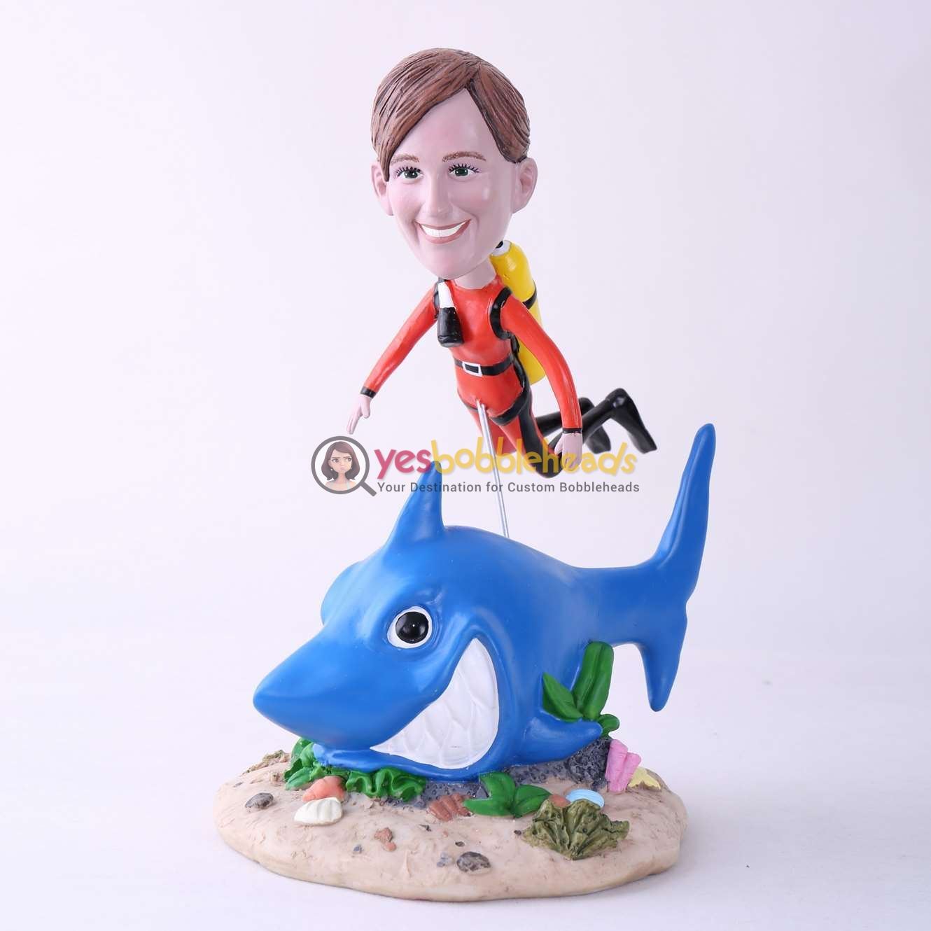 Picture of Custom Bobblehead Doll: Scuba Diving Woman